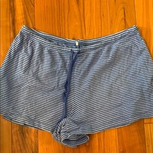 Other - Blue striped sleep shorts